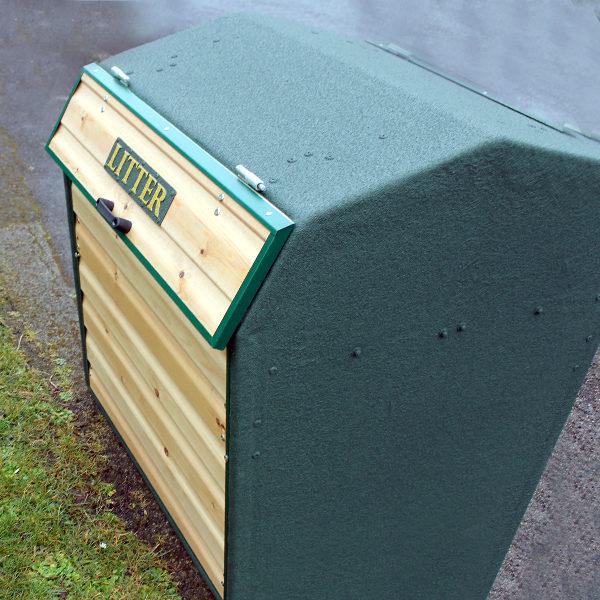 Wybone - RLA/6MAR Timber Front Closed Top Litter Bin