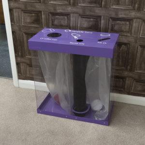 Wybone Box Cycle Cup Bin 120 Litres in purple